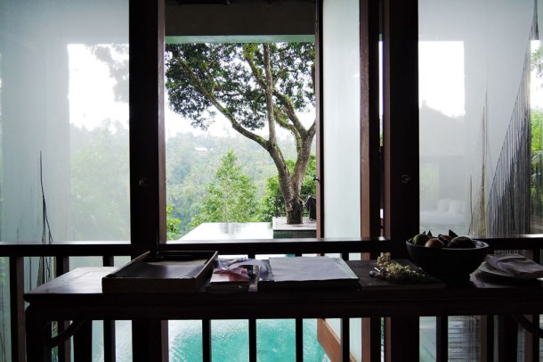 This was my room at Como Shambala Estate in Bali — attached to an infinity pool!